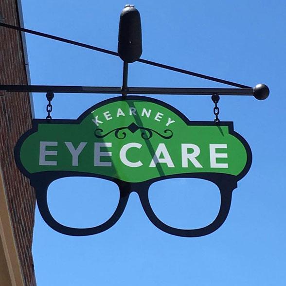 exterior of building kearney eyecare sign
